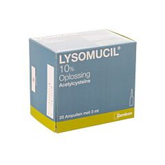 Lysomucil 10% 3ml 20 Ampoules