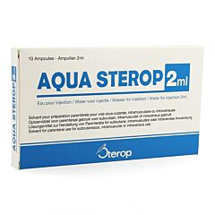 Aqua Sterop Voor Injecties Solvens 10x2ml Ampoules