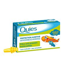 Quies Gehoorbescherming Antidrukfilter Vliegtuig Kind 1 Paar