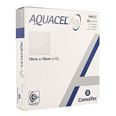 Aquacel Ag Verband Hydrofiber Steriel 10cm x 10cm 10 stuks