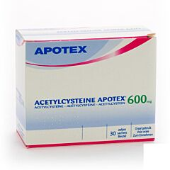 Acetylcysteine Apotex 600mg 30 Zakjes