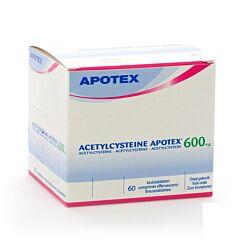 Acetylcysteine Apotex 600mg 60 Bruistabletten