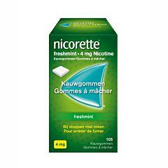 Nicorette Freshmint 4mg 105 Kauwgommen