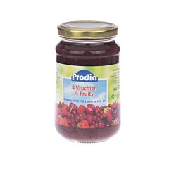 Prodia Broodbeleg Extra Zwarte Bes + Maltitol 215g
