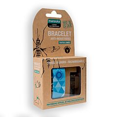 Manouka Anti-muggen Armband Blauw 1 Stuk