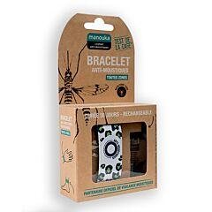Manouka Anti-muggen Armband Wit Groen 1 Stuk
