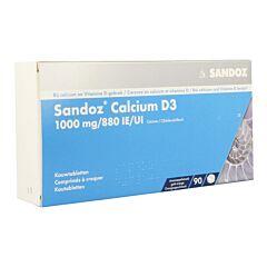 Sandoz Calcium D3 1000 Mg/880IE 90 Kauwtabletten