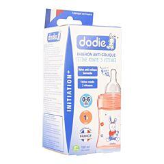 Dodie Zuigfles Initiatie+ Speen 1 Gat Roos 150ml