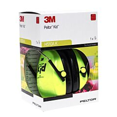 Peltor Hearing Protector Kid Neon Green 1 Paar