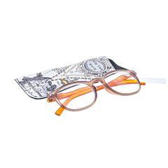 Pharmaglasses Leesbril +4.00 Brown/orange
