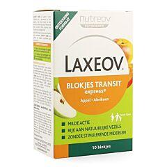 Laxeov Appel-abrikoos Blokjes 10x10g