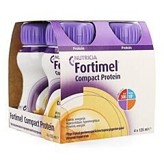 Fortimel Compact Protein Pittige Tropical-Gember 4x125ml