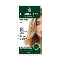 Herbatint 8D Permanente Haarkleuring - Licht Goud-Blond 150ml