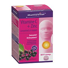 MannaVital Vitamine C + Zink + Vlier 60 Kauwtabletten