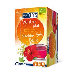 Biolys Kruidenthee Platte Buik Venkel/Hibiscus 24 Zakjes