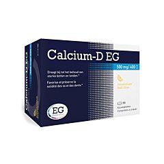 Calcium-D EG 500mg/400 I.E. Citroen 90 Kauwtabletten