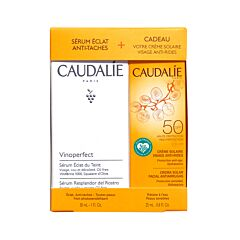 Caudalie Vinoperfect Set Serum Anti-Vlekken 30ml + GRATIS Anti-Rimpel Zonnecrème Gelaat SPF50 25ml