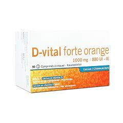 D-Vital Forte Sinaasappel 1000mg/880 IE 90 Kauwtabletten