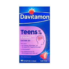 Davitamon Teens 12-18J Aardbei 60 Kauwtabletten