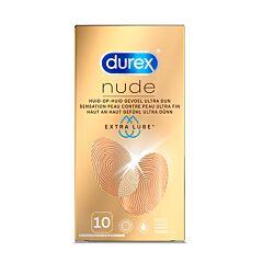 Durex Nude Condooms Extra Glijmiddel 10 Stuks