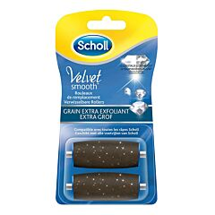 Scholl Velvet Smooth Verwisselbare Rollers Extra Grof 2 Stuks