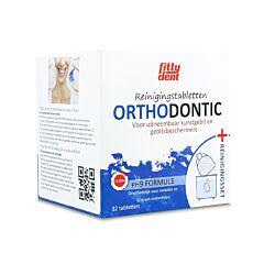 Fittydent Orthodontic Reinigingstabletten 32 Stuks + Reinigingsset