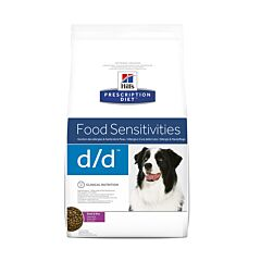 Hills Prescription Diet Food Sensitivities D/D Hondenvoer Eend/ Rijst 12kg