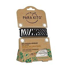 Parakito Bracelet Graffic Zèbre Anti-Moustiques + 2 Recharges