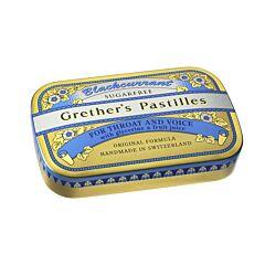 Grethers Pastilles Zwarte Bes Zonder Suiker 60g