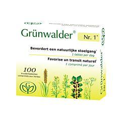 Grünwalder Nr.1 Natuurlijke Stoelgang 100 Tabletten NF