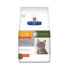 Hills Prescription Diet Urinary Stress + Metabolic C/D Kattenvoer Kip 8kg