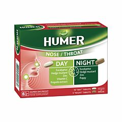 Humer Neus/Keel Dag & Nacht 10 Dagtabletten + 5 Nachttabletten