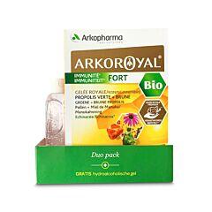 Arkoroyal Immuniteit Fort Duopack 40x10ml Ampullen + GRATIS Pure Clean Hydroalcoholische Gel 100ml