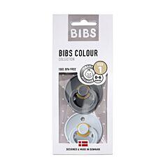 Bibs Fopspeen Duo Iron/Baby Blue 0-6M 2 Stuks