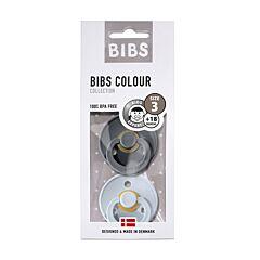 Bibs Fopspeen Duo Iron/Baby Blue +18M 2 Stuks