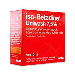 Iso-Betadine Uniwash 7,5% Zeep 10x10ml