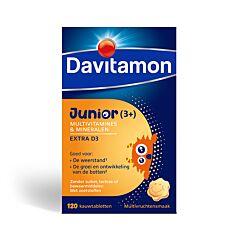 Davitamon Junior Multivitaminen Extra D3 Multivruchten 120 Tabletten