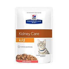 Hills Prescription Diet Kidney Care K/D Kattenvoer Zalm Maaltijdzakje 85g