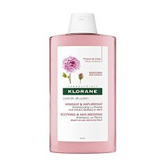 Klorane Shampoo Pioenroos BIO - Gevoelige Hoofdhuid 400ml