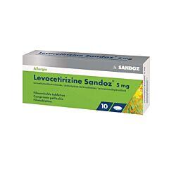 Levocetirizine Sandoz 5 Mg 10 Tabletten