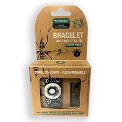 Manouka Anti-muggen Armband Zwart Wit 1 Stuk
