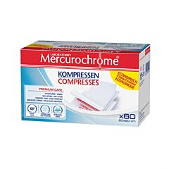 Mercurochrome Kompressen 20cmx20cm 60 Stuks