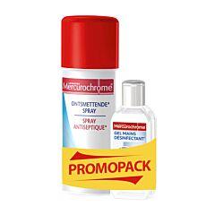 Mercurochrome Ontsmettende spray 100ml + GRATIS Desinfecterende Handgel 75ml