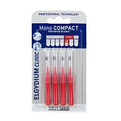 Elgydium Clinic Mono Compact Interdentale Borsteltjes 1,5mm Rood 4 Stuks