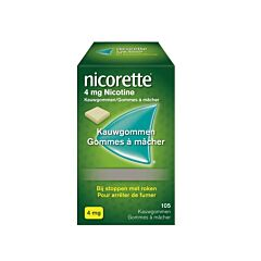 Nicorette 4mg 105 Kauwgommen