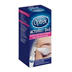 Optrex Actimist 2in1 Oogspray Droge/ Vermoeide Ogen 10ml