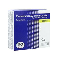 Paracetamol EG Instant Junior Vanille/Aardbei 250mg 20 Zakjes