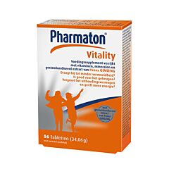 Pharmaton Vitality Geheugen/Concentratie/Energie 56 Tabletten