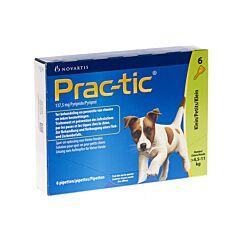 Prac-tic Spot-on Kleine Hond 4,5-11kg Anti-Vlooien/Teken 6 Pipetten