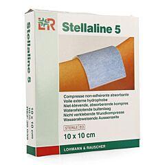 Stellaline 5 Steriel Kompres 10x10cm 10 Stuks